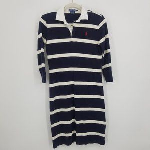 Ralph Lauren Vintage Rugby Polo Striped Dress S